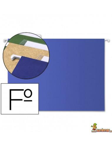 Carpeta colgante con visor tamaño Folio azul