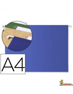 Carpeta colgante con visor DIN A4 azul