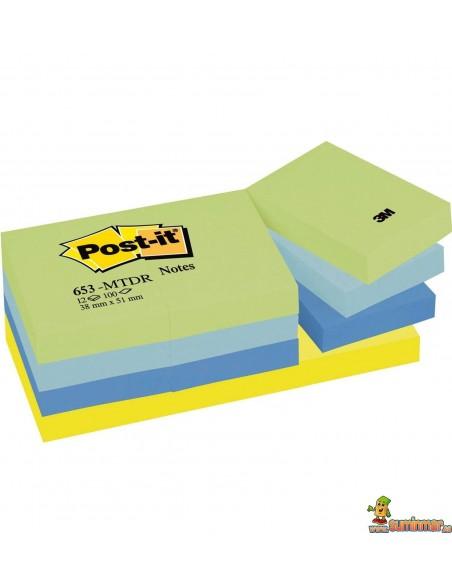 Notas Adhesivas Post-it 38x51mm 12x100 hojas