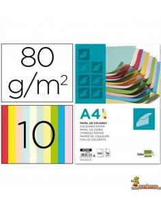Papel color A4 Colores surtidos 80g 100 hojas