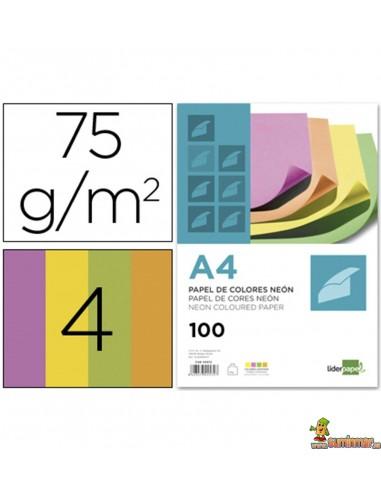Papel color A4 Neón 75g 100 hojas