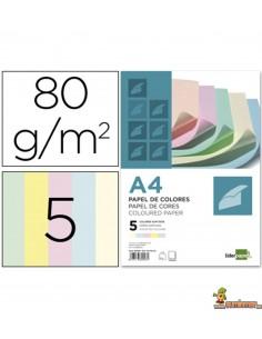 Papel color A4 80g 500 hojas