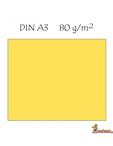 Papel color A3 Colores claros 80g 500 hojas Q-connect Amarillo