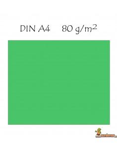 Papel color A4 Colores intensos 80g 500 hojas Q-connect Verde