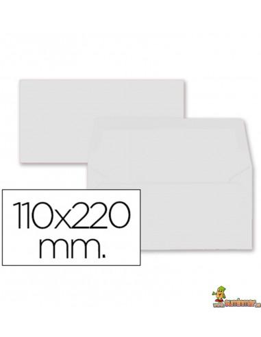 Sobre Color Americano 110x220mm Solapa recta 80g