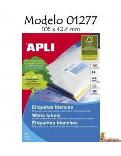 Apli 01277 Etiquetas 105x42.4mm 1400 ud