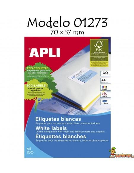 Apli 01273 Etiquetas 70x37mm 2400 ud
