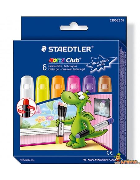 Ceras con textura de gel Staedtler Colores Pastel para pizarra, cristal