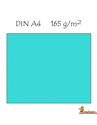 Papel Color A4 165g 9 hojas Azul celeste