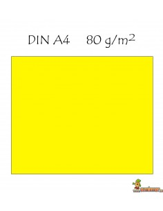 Papel color A4 80g 100 hojas monocolor Amarillo
