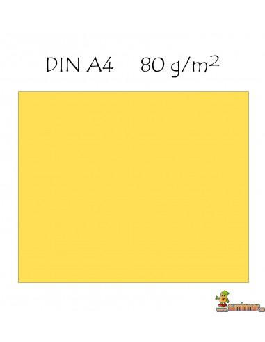 Papel color A4 Colores claros 80g 500 hojas Q-connect Amarillo