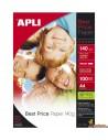 Papel Fotográfico A4 Glossy 140g 100 hojas Apli