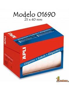 Apli 01690 Etiquetas en rollo 25x40mm 1600 ud