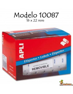 Apli 10087 Etiquetas en rollo 16x22mm 2520 ud