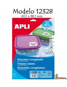 Apli 12328 Etiquetas para congelador 63,5x38,1mm 240 ud