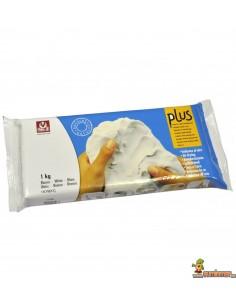 Arcilla Sio-2 Plus 1kg color blanco