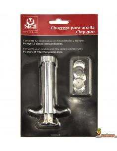 Churrera para arcilla Sio-2 con discos intercambiables