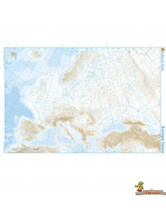 Mapa Mudo Europa A4