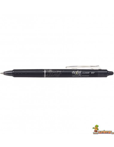 Pilot Frixion Ball Clicker negro 0.7mm Bolígrafo de tinta borrable
