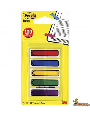 Banderitas separadoras Index flechas pequeñas 5 uds x 20 hojas Post-it