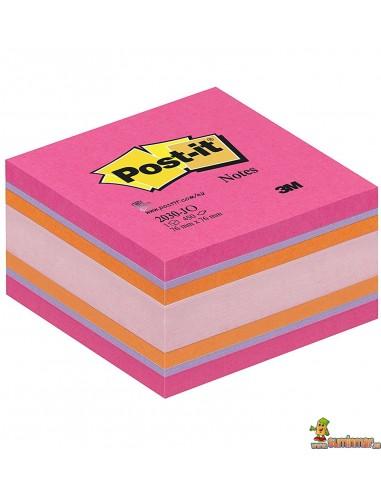 Notas Adhesivas Post-it 76x76mm 450 hojas Rosa Neón