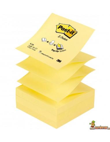 Notas adhesivas zig-zag Post-it Z-Notes 76x76mm 100 hojas