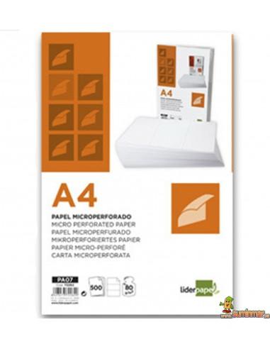 Papel microperforado A4 80g 500 hojas
