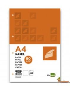 Papel multifunción A4 80g 4 taladros 100 hojas