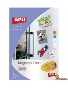 Papel magnético A4 640g 8 hojas Apli
