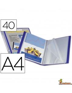 Carpeta escaparate rígida personalizable DIN A4 40 fundas fijas