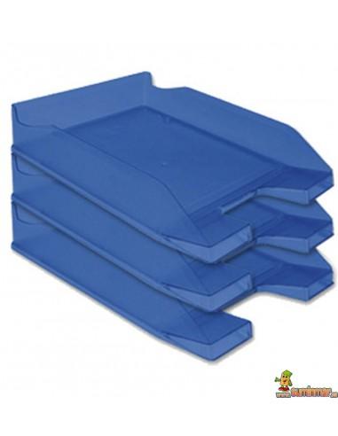 Bandejas De Sobremesa Plástico. Apilable. Colores Transparentes.  Q-Connect