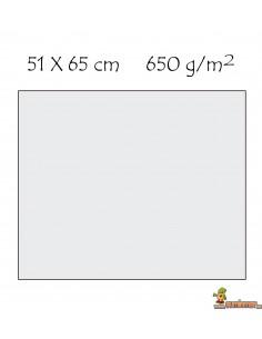 Cartulina extra 51x 65 cm 650g/m2 color blanco