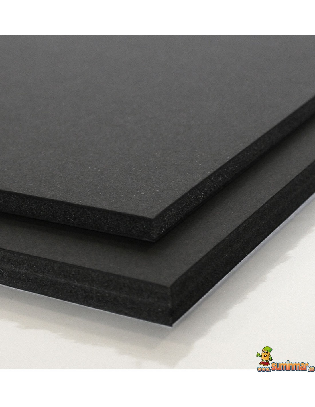 Cartón Pluma. 5 mm. Negro