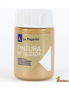 Pintura La Pajarita Metalizada a base de agua 35 ml oro ducado