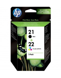 Tinta HP Pack HP 21/22 Cartucho original