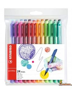 Estuche Stabilo pointMax, rotuladores para escribir y colorear. 24ud