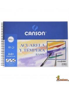 Bloc Acuarela y Témpera Canson A4+ 370g/m2 10 hojas