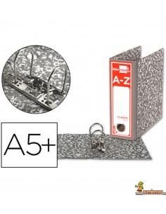 Archivador DIN A5 apaisado lomo 80mm gris clásico