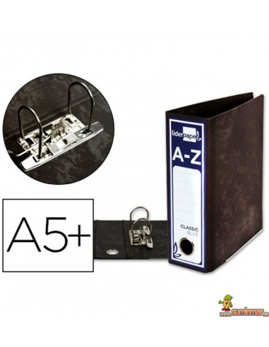 Archivador DIN A5 apaisado lomo 80mm negro clásico