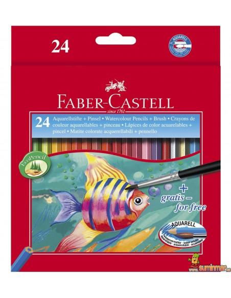 Lápices de colores acuarelables Faber Castell Hexagonales