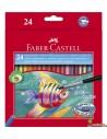 Lápices de colores acuarelables Faber Castell Hexagonales 24ud
