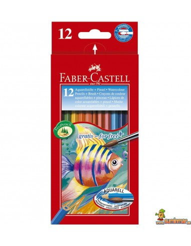 Lápices de colores acuarelables Faber Castell Hexagonales 12ud