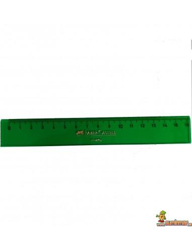 Regla Faber Castell para uso escolar y profesional 16cm