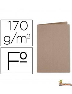 Subcarpeta tamaño folio de cartulina Kraft