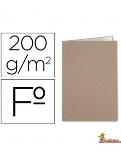 Subcarpeta tamaño folio de cartulina Kraft con interior blanco