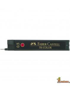 Minas Faber Castell 0,5mm Rojo 12ud