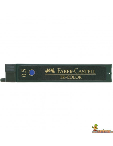 Minas Faber Castell 0.5mm Azul 12ud