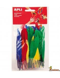 Plumas de colores para manualidades 100 uds