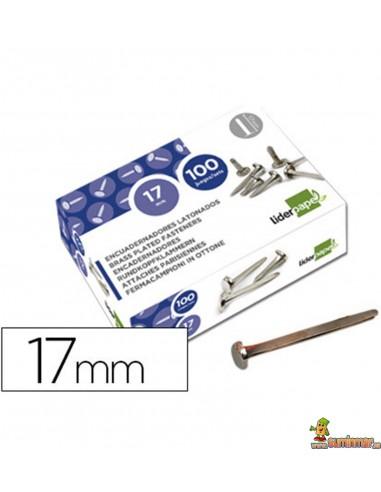 Encuadernador latonado cabeza redonda 17 mm