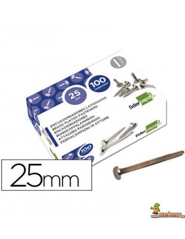 Encuadernador latonado cabeza redonda 25 mm